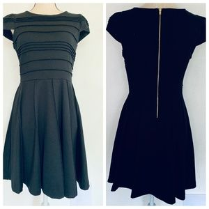 Elle NWT Black Fit & Flare Dress 6